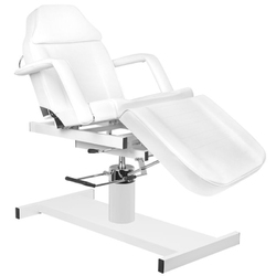 Fotel kosmetyczny hyd. a 210d z kołyską  biały