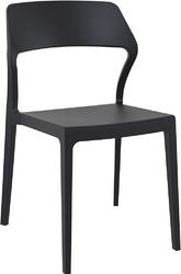 Krzesło snow czarne - czarny