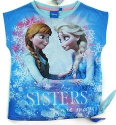 Koszulka frozen sisters are magic niebieska 8 lat