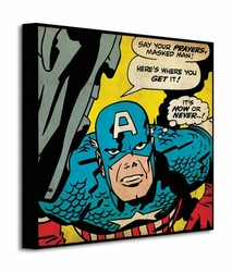 Captain America Now or Never - Obraz na płótnie