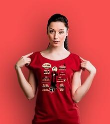 Popiełuszko t-shirt damski czerwony l