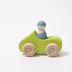 Drewniane autko, mały kabriolet, zielone, grimms - zielone