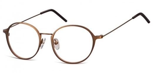 Lenonki zerowki oprawki okulary korekcyjne 971e jasny braz