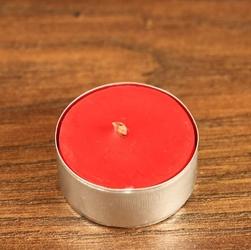 Tealight - świeca z wosku herbaciarka - czerwona 6 sztuk