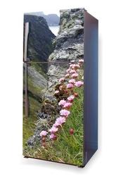 Foto naklejka na lodówkę kwiaty w górach p54