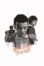 Stranger things - plakat premium wymiar do wyboru: 30x45 cm