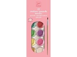 Farby plakatowe 12 kolorów perłowych