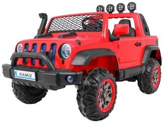 Allroad 4x4 czerwony dwuosobowy samochód na akumulator + pilot