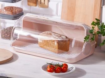 Chlebak  pojemnik na pieczywo z tworzywa sztucznego lamela jasny beż