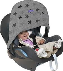 Osłonka do wózka i fotelika dooky zero + grey stars
