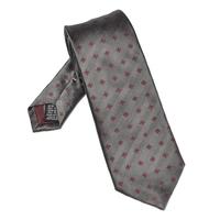 Elegancki ciemnoszary krawat van thorn w czerwone kwiaty