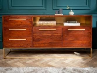 Elegancka drewniana komoda straight z drewna akacjowego  165x80x40 cm