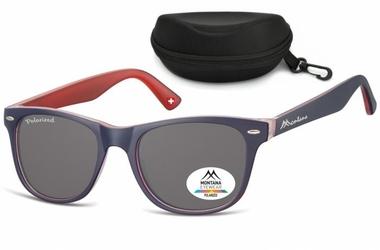 Okulary nerdy polaryzacyjne montana mp10j granatowo-czerwone