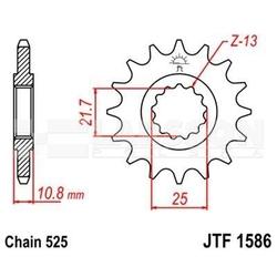 Zębatka przednia jt f1586-16, 16z, rozmiar 525 2200642 yamaha trx 850