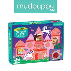 Puzzle mudpuppy z ukrytymi obrazkami - zamek jednorożca