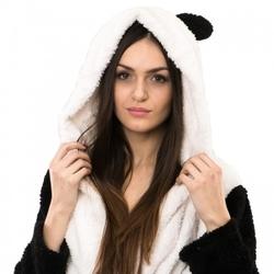 Ciepły pluszowy szlafrok panda