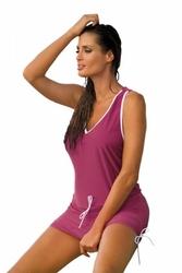 Sukienka plażowa marko elsa magenta m-313 6