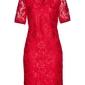 Sukienka polo z koronki bonprix czerwony