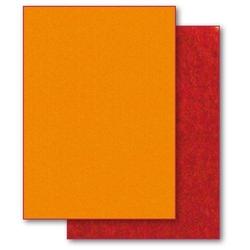 Dwustronny filc ozdobny 50x70 cm -pomarań-czerwień - POMCZ