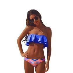 Brazylijskie bikini strój kąpielowy falbanki