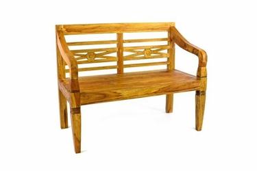 Ławka ogrodowa z drewna teakowego