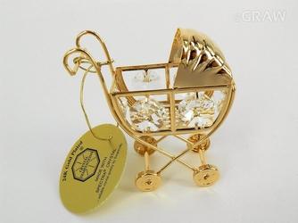 Wózek chrzest roczek swarovski grawer  tabliczka