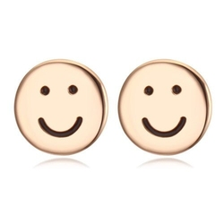 Exclusive kolczyki uśmiechy złote - złote