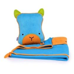 Kocyk i poduszeczka snoozihedz niebieski bert
