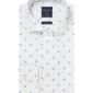 Biała koszula profuomo typu oxford w kwiaty 38