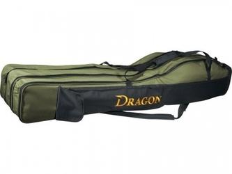 Pokrowiec na wędki trójkomorowy 155cm , dragon
