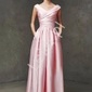 Drapowana wieczorowa sukienka z kopertowym dekoltem julia