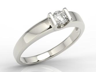 Pierścionek zaręczynowy z białego złota z brylantem jp-9827b