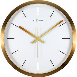 Zegar ścienny Stripe Nextime 44 cm, biały  złoty 2524 GW