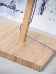 Goodmojo :: lampa podłogowa fuji, abażur w kolorze ciemnego lnu