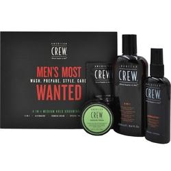 American crew mens most wanted medium hold zestaw męskich kosmetyków