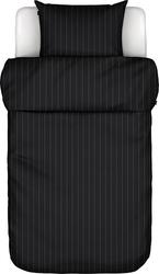 Pościel jora czarna 155 x 220 cm z poszewką na poduszkę 80 x 80 cm