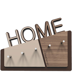 Wieszak na klucze Home CalleaDesign orzech włoski 18-001-85
