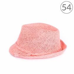 KAPELUSZ damski PLAŻOWY różowy 54 - różowy 54