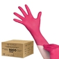 All4med jednorazowe rękawice diagnostyczne nitrylowe malinowe xl 10 x100szt