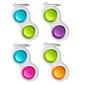 Breloczek bąbelki dimpl fat brain toys - zielono-fioletowy