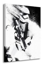 Star wars episode vii stormtrooper paint - obraz na płótnie