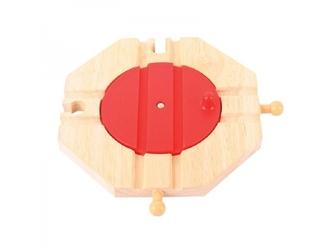 Drewniana obrotnica na 4 tory