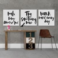 Motywacja - komplet trzech obrazów , wymiary - 30cm x 30cm 3 sztuki