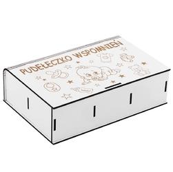 Pudełko wspomnień dla bobasa na roczek lub chrzest z grawerem