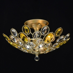 Lampa sufitowa z żółtymi i przezroczystymi kryształami laura mw-light crystal 345012903