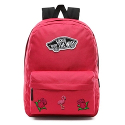 Plecak szkolny vans realm cerise - vn0a3ui6sq2 - custom flamingo and roses