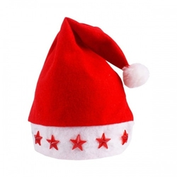 Świąteczna czapka świętego mikołaja świecąca led