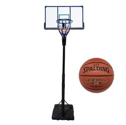 Zestaw kosz do koszykówki przenośny top + piłka spalding nba neverflat