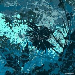 Naklejka samoprzylepna tło wektor grunge w kolorze niebieskim