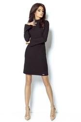 Czarna sukienka z wyciętymi plecami
